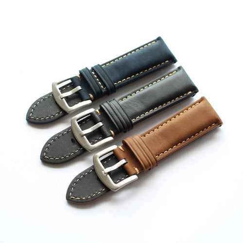 New Arrival Handmade IWC Rolex Seiko Hamilton Panerai Real Cow Leather Strap watch band custom made