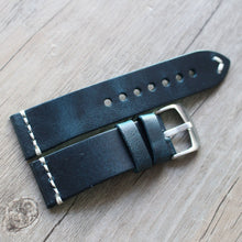 New Arrival Handmade BLUE Rolex Seiko Panerai Real Cow Leather Strap watch band custom made 18 20 21 22 23 24 MM