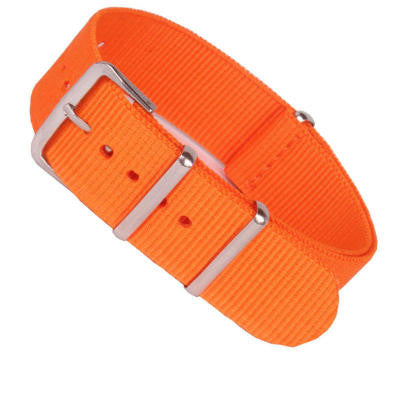 New Arrival Handmade Orange Nylon Leather Strap NATO IWC Rolex Seiko Hamilton Panerai  strap watch band custom made