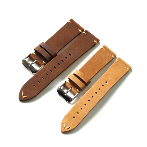 New Arrival Handmade Seiko Rolex Real Cow Leather Strap watch band custom made 18 19 20 21MM