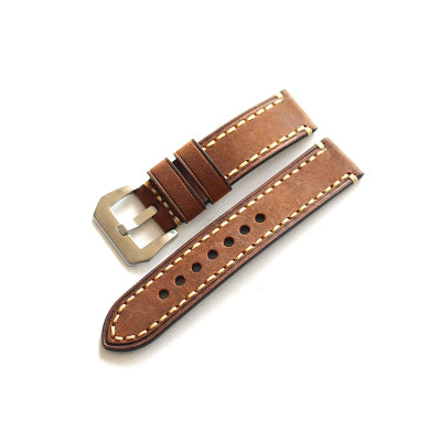 New Arrival Brown Handmade Rolex Seiko Panerai Real Cow Leather Strap watch band custom made 18 19 20 21 22 23 24 26MM