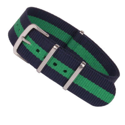 New Arrival Handmade Navy Green Nylon Leather Strap NATO IWC Rolex Seiko Hamilton Panerai  strap watch band custom made
