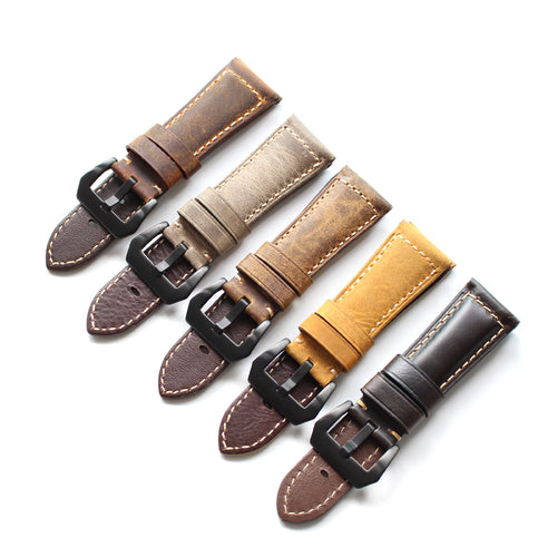 New Arrival Handmade PaneraI Seiko Rolex Garmin Real Cow Leather Strap watch band custom made 20 22 24 26MM