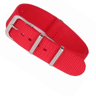 New Arrival Handmade Red Nylon Leather Strap NATO IWC Rolex Seiko Hamilton Panerai  strap watch band custom made