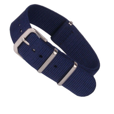 New Arrival Handmade Classic Navy Blue Nylon Leather Strap NATO IWC Rolex Seiko Hamilton Panerai  strap watch band custom made