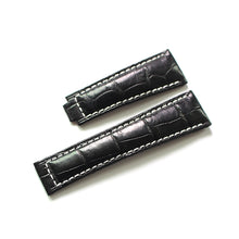 New Arrival Handmade Rolex Seiko Real Alligator Leather Strap watch band custom made 20MM