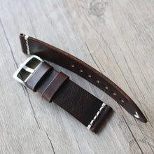 New Arrival Handmade Brown Rolex Seiko Panerai Real Cow Leather Strap watch band custom made 18 20 21 22 23 24 MM