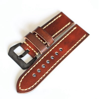 New Arrival Handmade Rolex Seiko Panerai Real Cow Leather Strap watch band custom made 20 22 24 26MM