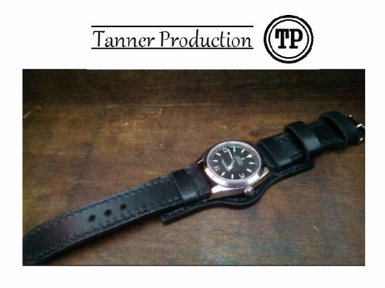 Tailor-made Handmade real cow Black leather military style ammo style watch strap watch band 20 22 24 26 custom made panerai iwatch apple rolex iwc garmin dw