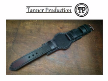 Tailor-made Handmade personalized customized real leather watch strap watch band custom made panerai watch strap Mililtary style with pad panerai iwatch apple rolex iwc garmin dw