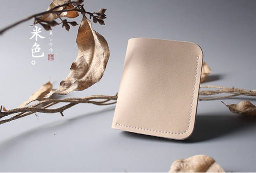 Tailor Handmade Crazy horse skin Real Cow Leather Retro HandBag Long Wallet Hand Japanese korean Nude color Girl Women Bag pouch envelope