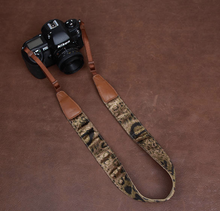 Tailor Handmade Real Blue Denim Cow Leather Beige Tiger Leopard pattern Camera strap slr dslr buckles Leica Nikon Sony Olympus Canon fujifilm Bag