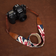 Tailor Handmade Real Blue Denim Cow Leather Cotton Uk logo pattern Camera strap slr dslr buckles Leica Nikon Sony Olympus Canon fujifilm