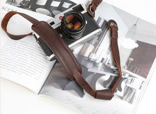 Tailor Handmade Real Cow Crazy Horse Leather Brown green red Retro Camera strap slr dslr buckles Leica Nikon Sony Olympus Canon fujifilm Bag