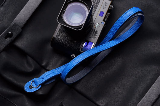 Tailor Handmade Real Cow Crazy Horse Leather Ocean Blue Retro Camera strap slr dslr buckles Leica Nikon Sony Olympus Canon fujifilm Bag