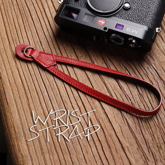 Tailor Handmade Real Cow Crazy Horse Leather Red Retro Camera Wrist strap slr dslr buckles Leica Nikon Sony Olympus Canon fujifilm Bag