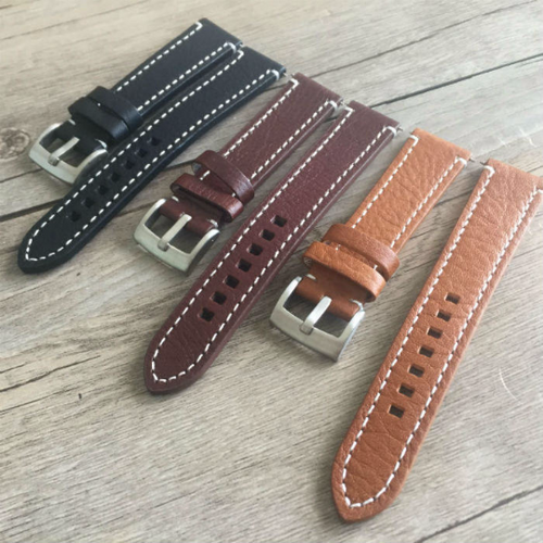 Tailor Handmade Real Cow Crazy Horse Leather khaki brown watch band Strap Pam111 IWC Timex Rolex Hamilton Panerai DW 22 20 mm custom Clasp