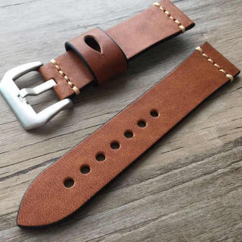 Tailor Handmade Real Cow Crazy Horse Leather oil wax brown watch band Strap Pam111 IWC Timex Rolex Hamilton Panerai DW 22 24 26 mm Clasp