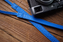 Tailor Handmade Real Cow Crazy Horse Leather wax Ocean Blue Retro Camera strap slr dslr buckles Leica Nikon Sony Olympus Canon fujifilm Bag