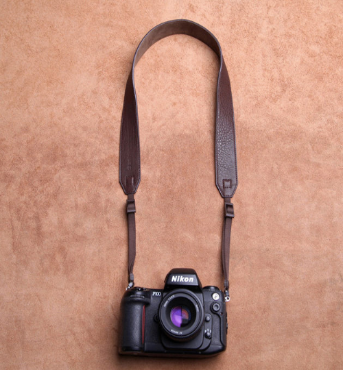 Tailor Handmade Real Cow Crazy Horse Leather wax WOOD Brown Retro Camera strap slr dslr buckles Leica Nikon Sony Olympus Canon fujifilm Bag
