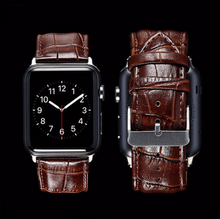 Copy of Tailor Handmade Real Cow Crazy Horse Scrub Bamboo pattern Leather Dark Brown Smart Apple iwatch 38 42 mm i watch band Strap Steel Clasp