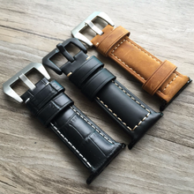 Tailor Handmade Real Cow Crazy Horse Scrub Leather Pattern Brown Black Smart Apple iwatch 38 42 mm watch band Strap Steel Clasp Custome Made