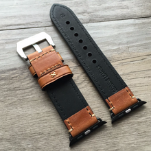 Tailor Handmade Real Cow Crazy Horse Scrub Leather Retro Brown Dark Khaki Smart Apple iwatch 42 mm watch band Strap Steel Clasp Custome Made i watch iwatch applewatch apple band