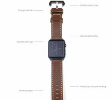 Tailor Handmade Real Cow Crazy Horse Scrub Leather Retro Brown yellow Smart Apple iwatch 42 mm watch band Strap Steel Clasp Custome Made