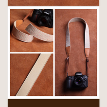 Tailor Handmade Real Cow Leather color star cotton red pattern Camera strap slr dslr buckles Leica Nikon Sony Olympus Canon fujifilm Bag