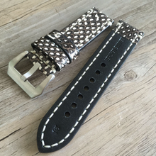 Tailor Handmade Real Python skin Cow Leather White Black snake watch band Strap Pam111 IWC Timex Rolex Hamilton Panerai DW 22 20 26 mm Clasp