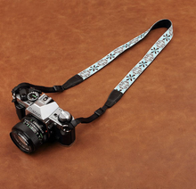 Tailor Handmade embroidery flower Cow folk custom Cotton pattern Camera strap slr dslr buckles Leica Nikon Sony Olympus Canon fujifilm Bag