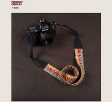 Tailor Handmade paul smith Real Cow Leather Woven Cotton pattern Camera strap slr dslr buckles Leica Nikon Sony Olympus Canon fujifilm Bag