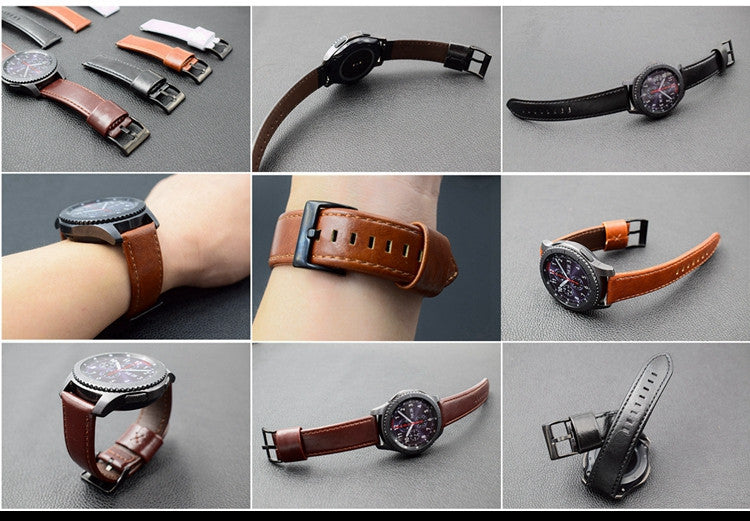 Vintage Classic Real Cow Leather Handmade Smart Samsung Gear