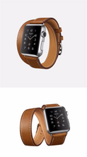 Tailor Handmade Real Cow Horse Scrub Leather Retro wood brown Hermes Style Smart Apple iwatch 38 42 mm watch band Strap Steel Clasp Custome