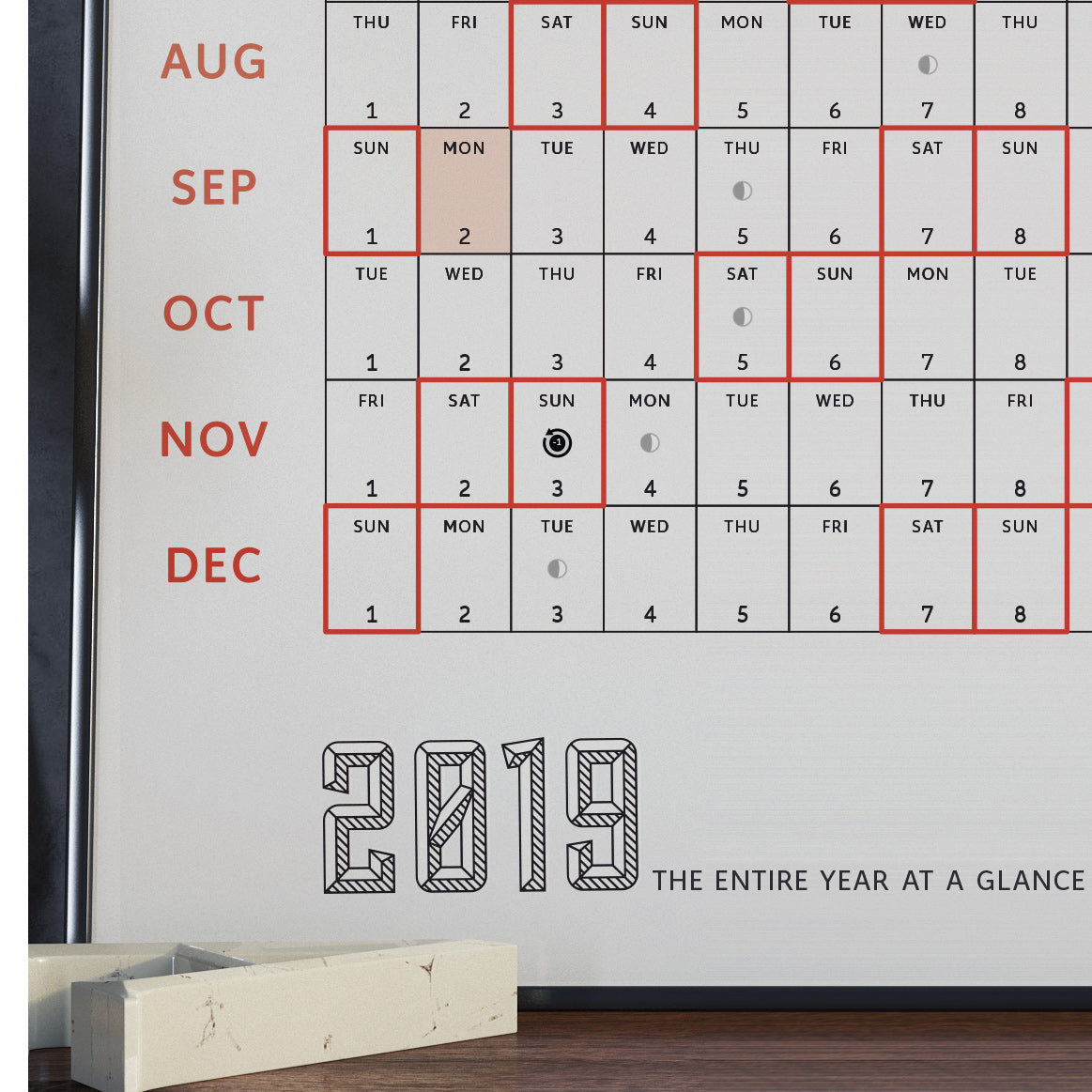 2019 Calendar: A Map of the Entire Year (Limited Edition)