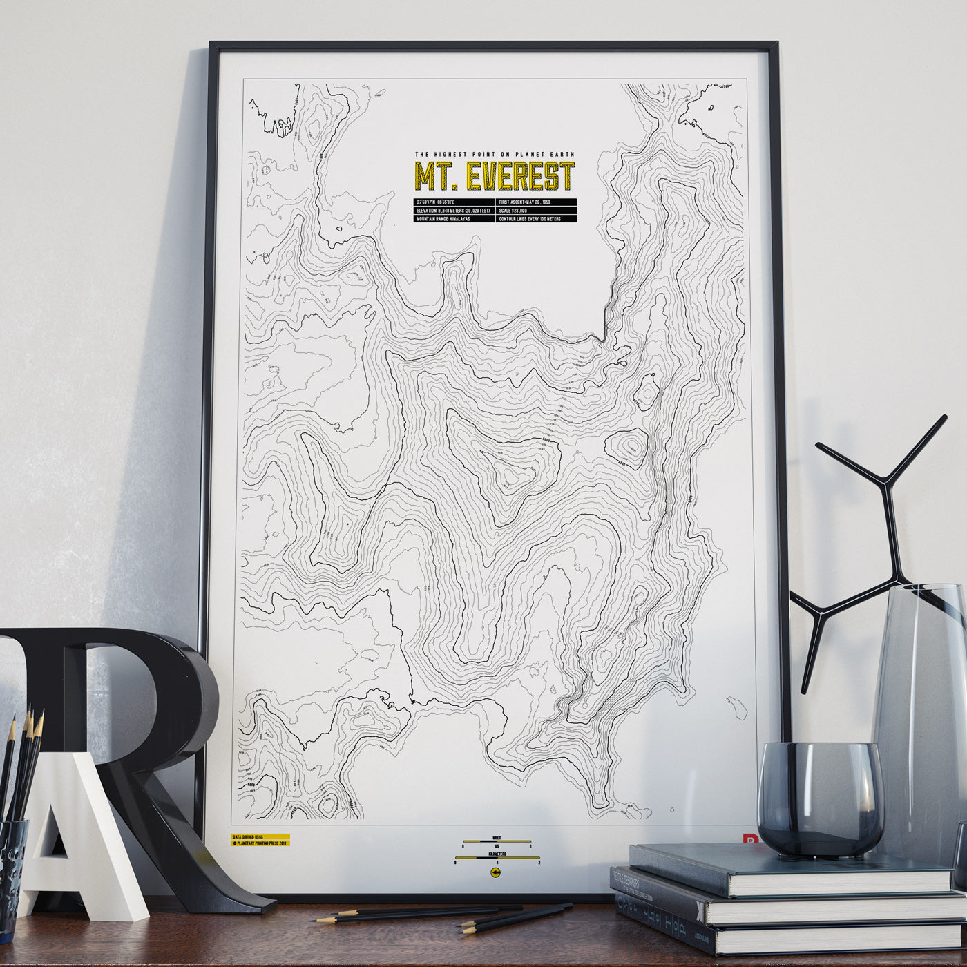 Mt. Everest Contour Map