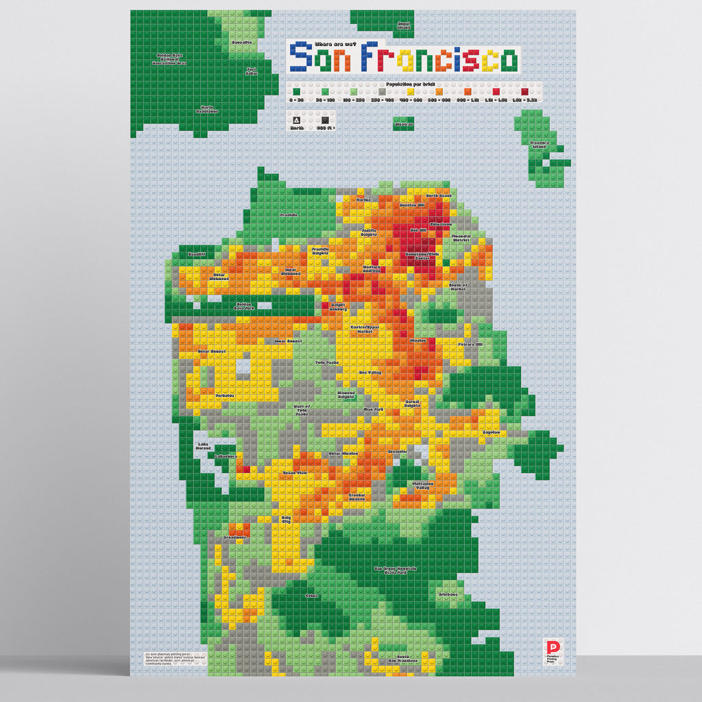 San Francisco LEGO Map