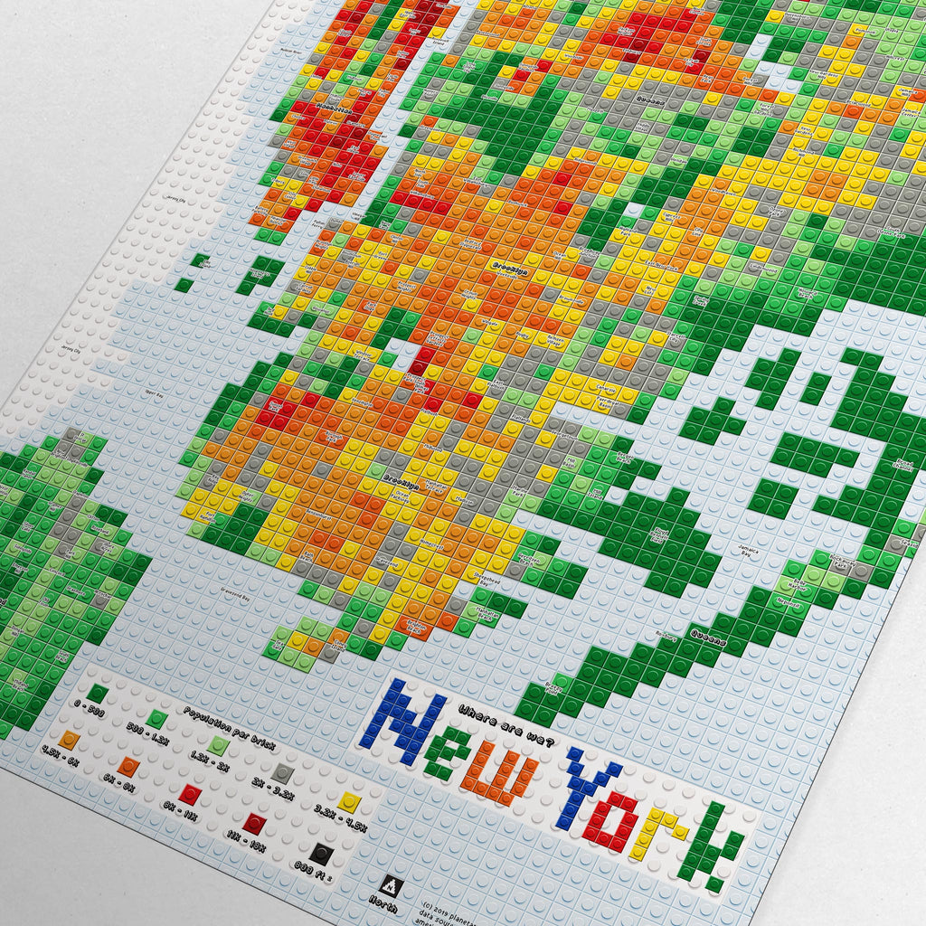 New York City LEGO Map