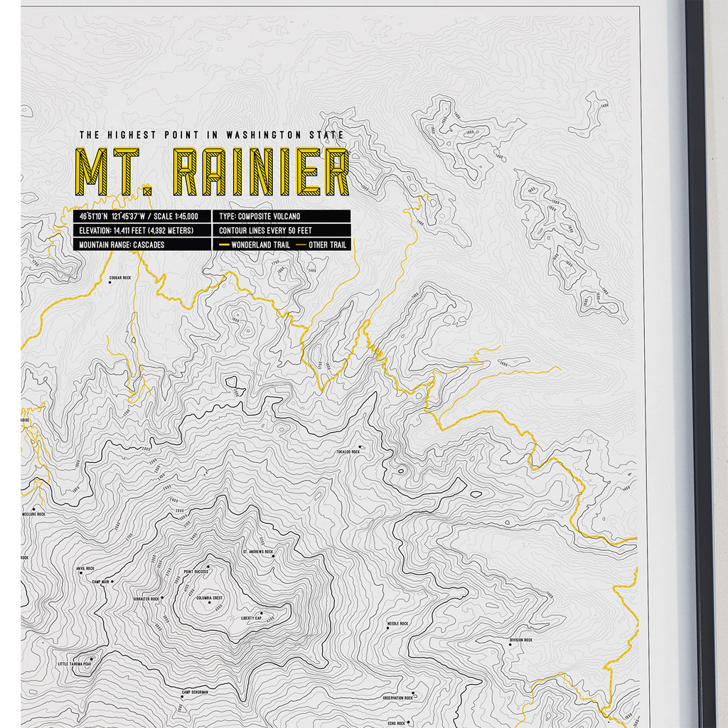 Mt. Rainier Contour Map