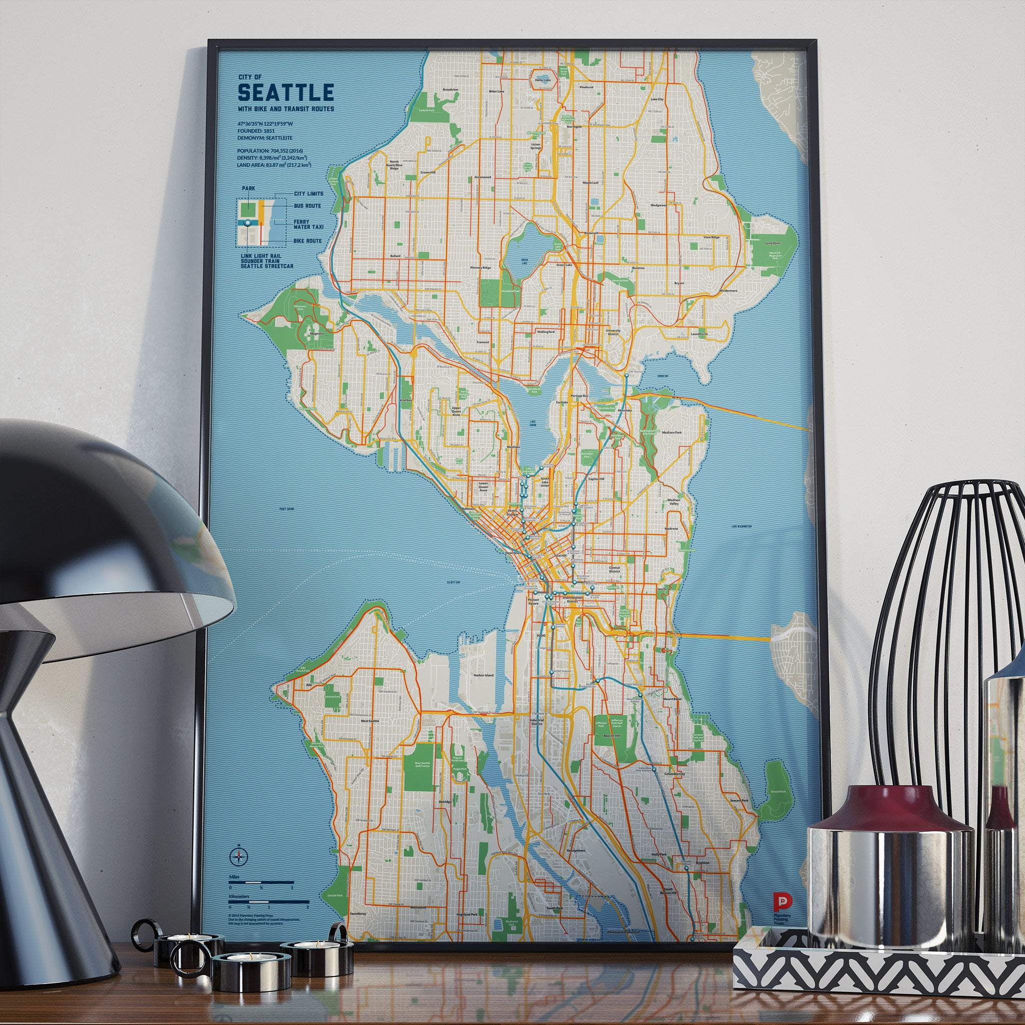 Seattle Bike & Transit Map