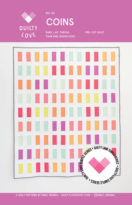 Coins PAPER Quilt Pattern