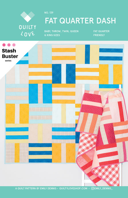 Fat Quarter Dash Quilt Pattern - Automatic PDF download