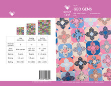 Geo Gems PDF Quilt Pattern - Digital Download