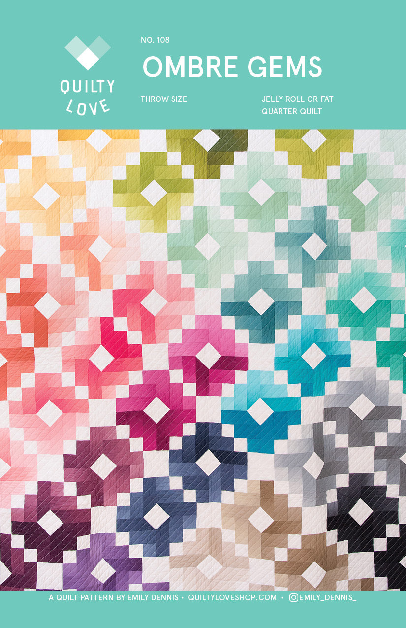 Ombre Gems Pdf Quilt Pattern Quilty Love