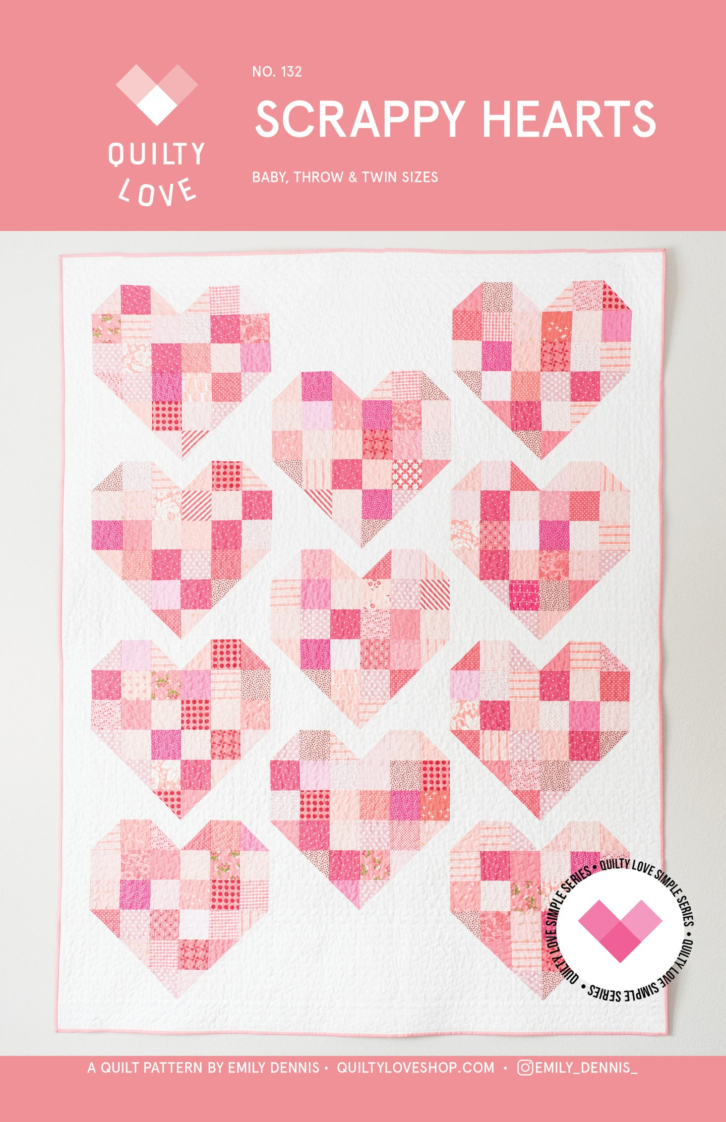 Scrappy Hearts PAPER Quilt Pattern