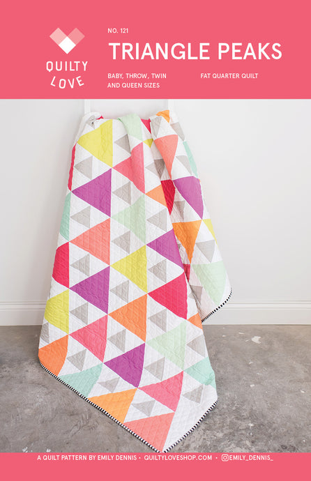 Triangle Peaks PAPER Quilt Pattern