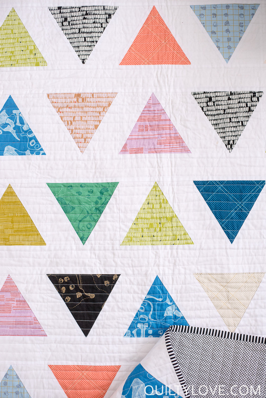 Triangle Pop Pdf Quilt Pattern Quilty Love