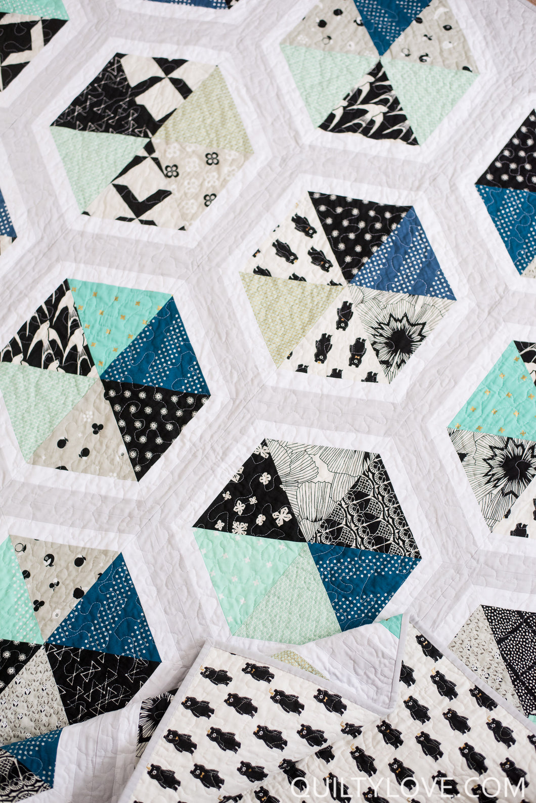 Triangle Hexies Pdf Quilt Pattern Quilty Love