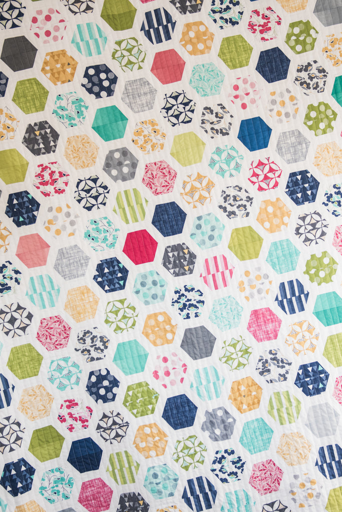 Hexie Framed Pdf Quilt Pattern Quilty Love