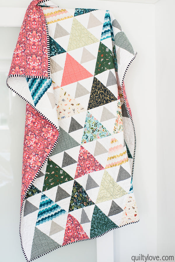 Triangle Peaks Throw Quilt